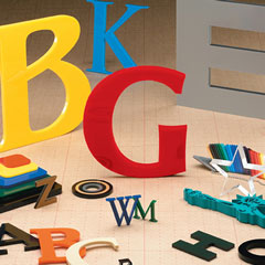 plastic acrylic-letters