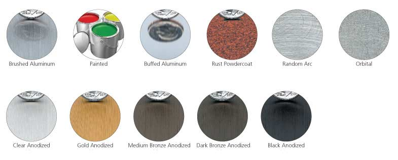 cast-metal aluminum-finishes