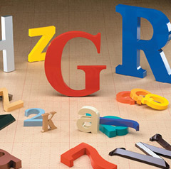 injection molded plastic letters