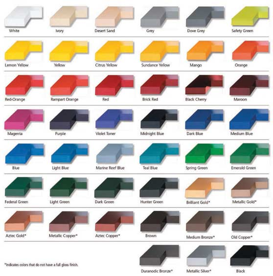 flat-cut-colors aluminum