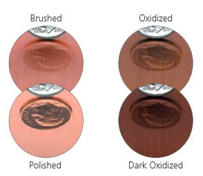 flat-cut copper-finishes
