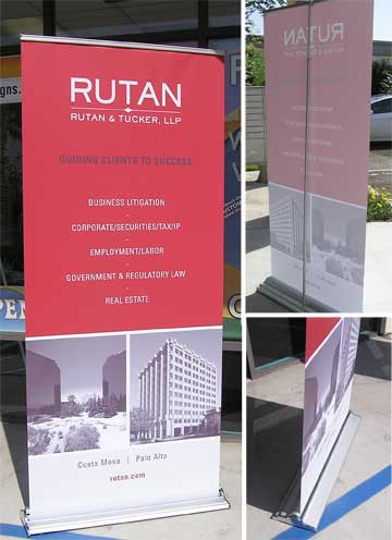 retractable banner 360