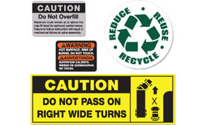WARNING LABELS & STICKERS