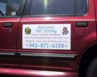 Vehicle magnet withgraphics kelcares