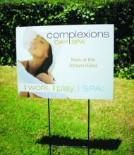 ComplexionsDaySpa YARDSIGN close-up