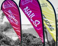 Multi-color wind banners
