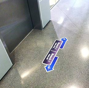 Adhesive Floor Graphics And Decals For Interior And