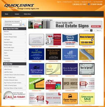 Design Real Estate Signs Online