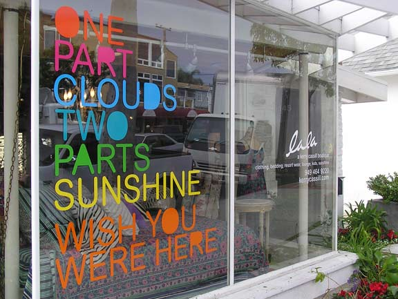 Window Lettering Adhesive Vinyl Letters